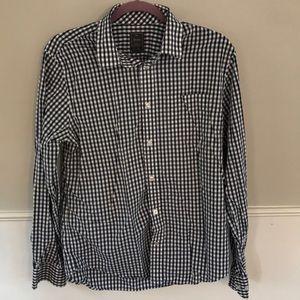 Men's Gingham button up shirt